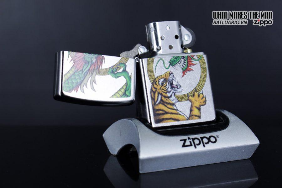 Zippo 29837 – Zippo Chinese Dragon Design Street Chrome 8