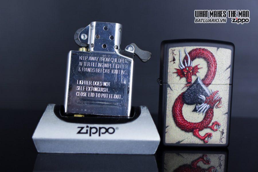 Zippo 29840 – Zippo Dragon Ace Design Black Matte 10