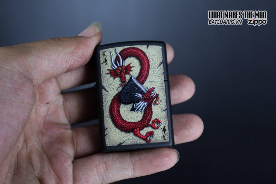 Zippo 29840 – Zippo Dragon Ace Design Black Matte 11