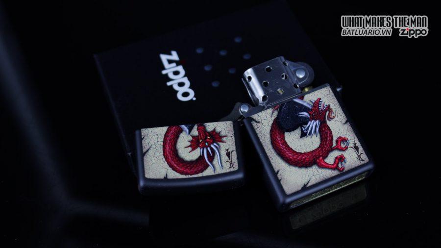 Zippo 29840 – Zippo Dragon Ace Design Black Matte 2