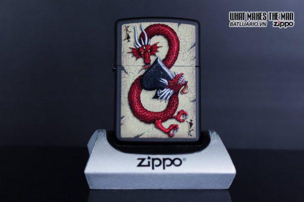 Zippo 29840 – Zippo Dragon Ace Design Black Matte 5