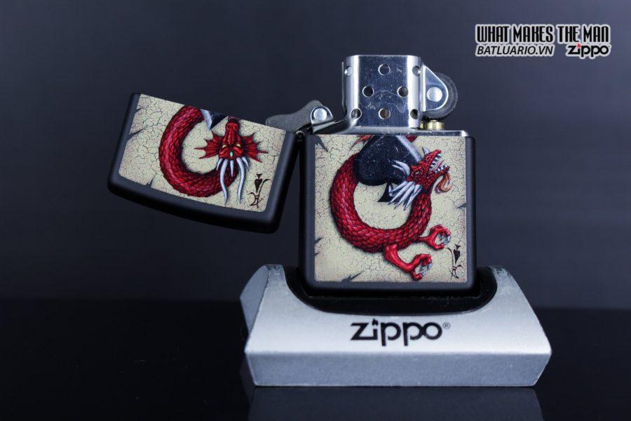 Zippo 29840 – Zippo Dragon Ace Design Black Matte 6