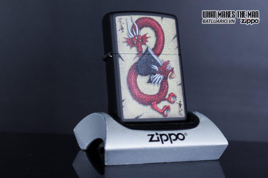 Zippo 29840 – Zippo Dragon Ace Design Black Matte 8