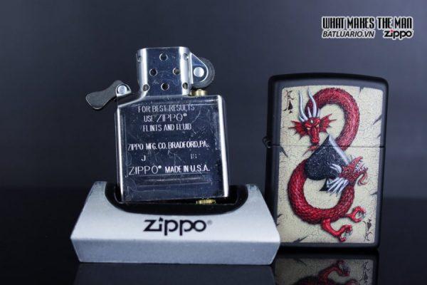 Zippo 29840 – Zippo Dragon Ace Design Black Matte 9