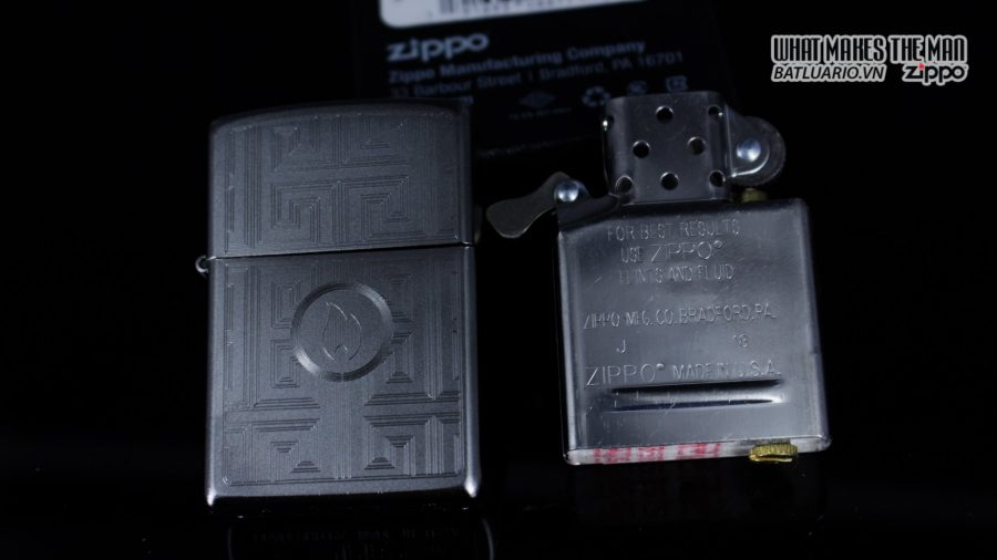 Zippo 29857 – Zippo Labyrinth Design Satin Chrome 11