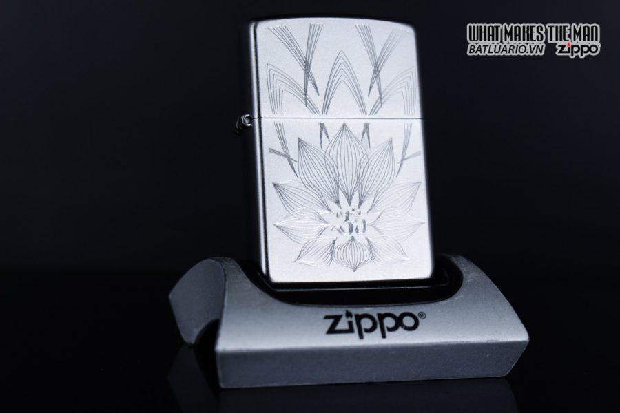 Zippo 29859 – Zippo Lotus Ohm Design Satin Chrome 4