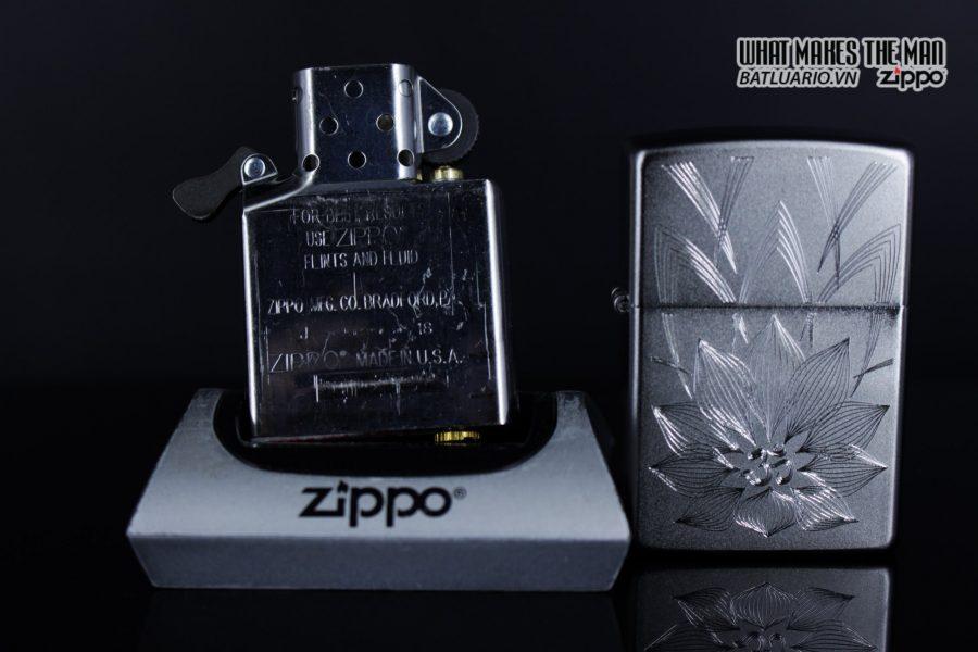 Zippo 29859 – Zippo Lotus Ohm Design Satin Chrome 7