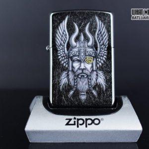 Zippo 29871 – Zippo Viking Warrior Design Street Chrome 1