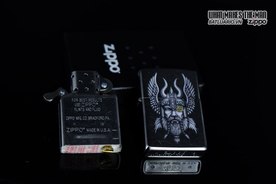 Zippo 29871 – Zippo Viking Warrior Design Street Chrome 10