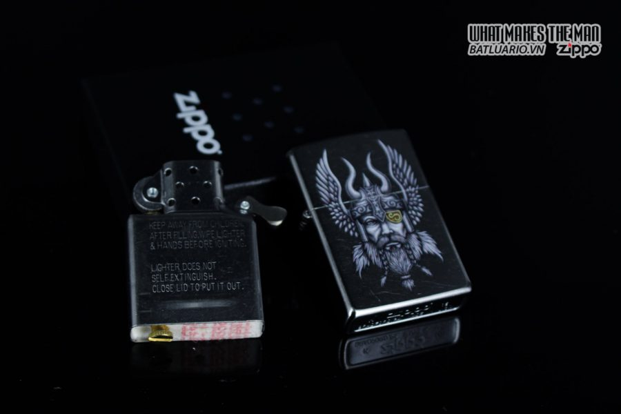 Zippo 29871 – Zippo Viking Warrior Design Street Chrome 11