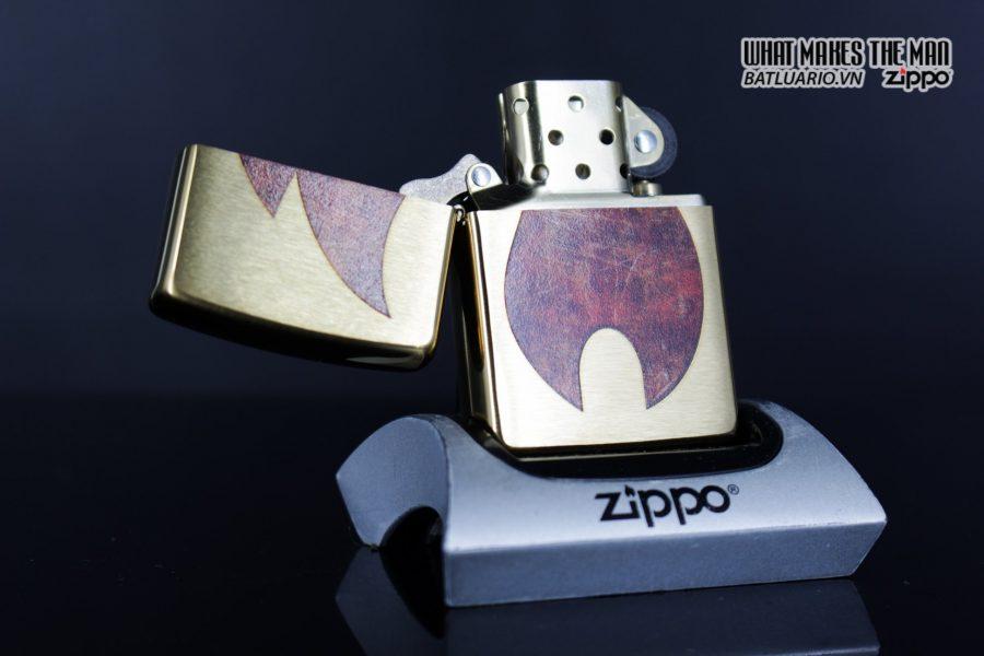 Zippo 29878 – Zippo Rusty Flame Design Brush Brass 13