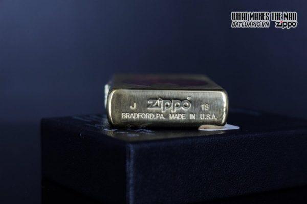 Zippo 29878 – Zippo Rusty Flame Design Brush Brass 7