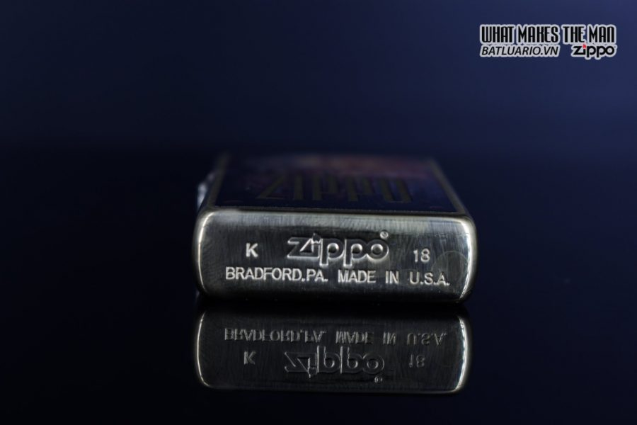 Zippo 29879 – Zippo Rusty Plate Design Brushed Brass 5