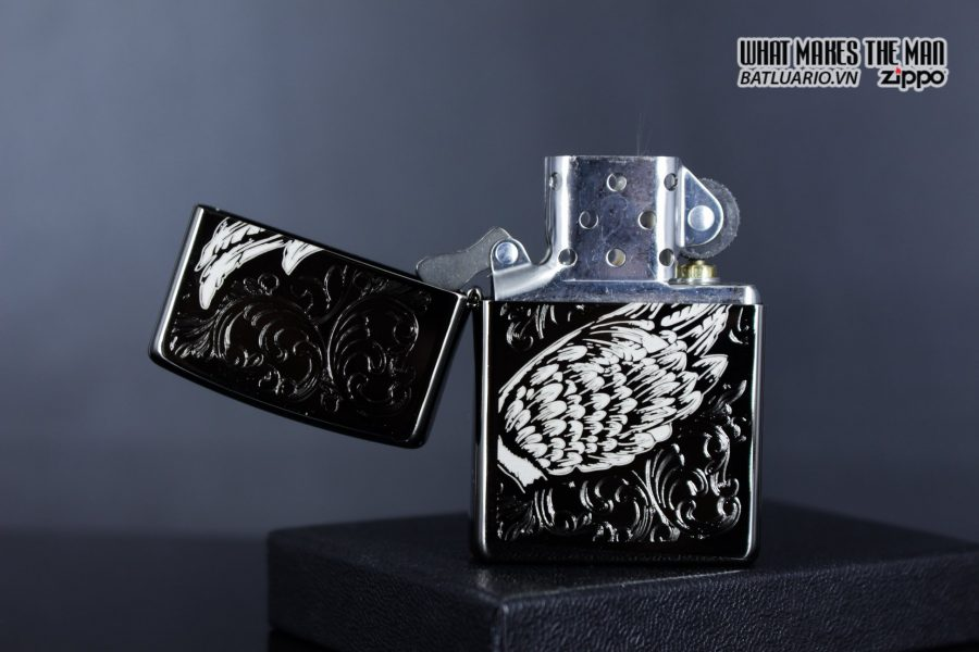 Zippo 29881 – Zippo A Gift of Wings Black Ice 3