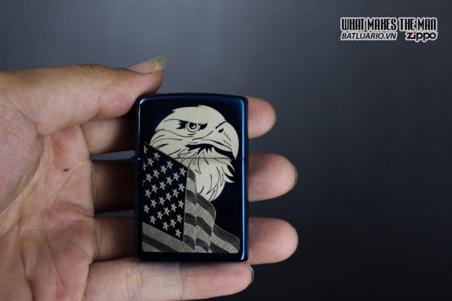 Zippo 29882 - Zippo Eagle & Flag Design High Polish Blue 11