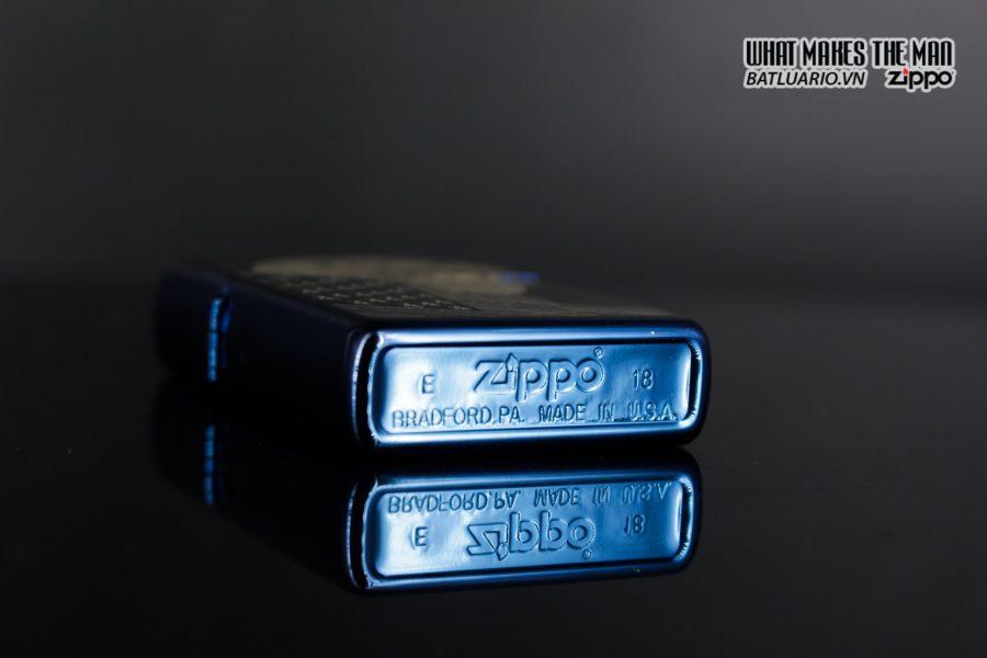 Zippo 29882 - Zippo Eagle & Flag Design High Polish Blue 3