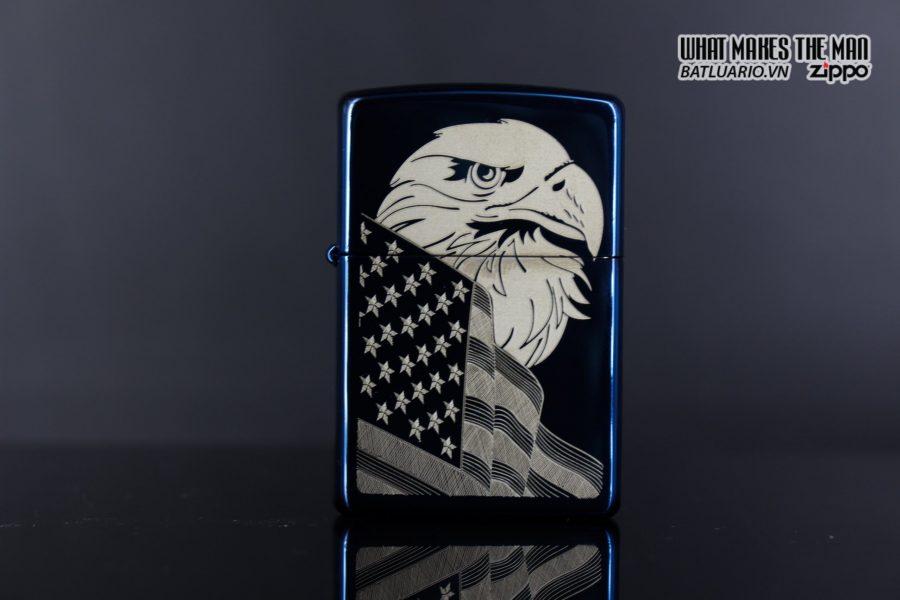 Zippo 29882 - Zippo Eagle & Flag Design High Polish Blue 5