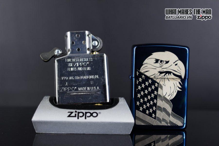 Zippo 29882 - Zippo Eagle & Flag Design High Polish Blue 6