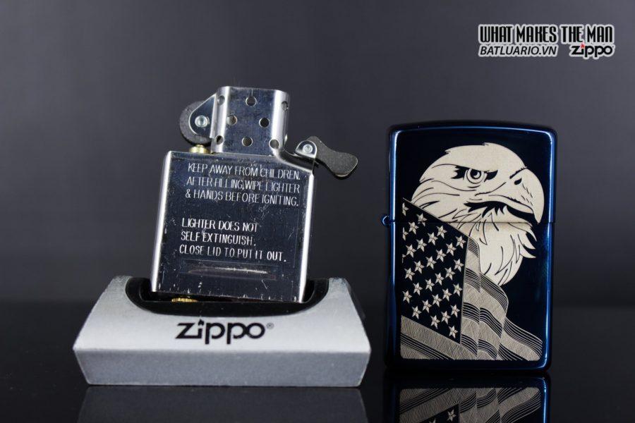 Zippo 29882 - Zippo Eagle & Flag Design High Polish Blue 7