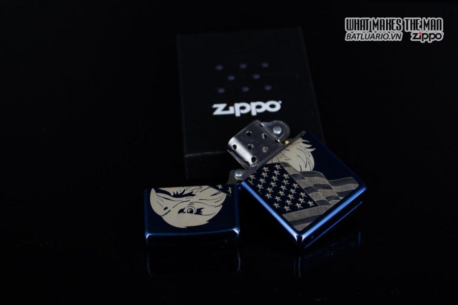 Zippo 29882 - Zippo Eagle & Flag Design High Polish Blue 8