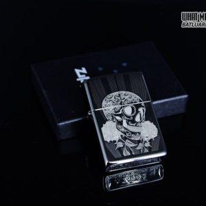Zippo 29883 – Zippo Fancy Skull Design Black Ice