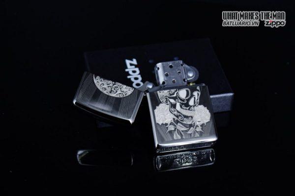 Zippo 29883 – Zippo Fancy Skull Design Black Ice 2
