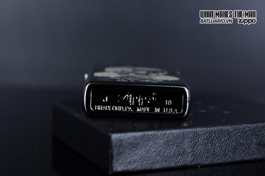 Zippo 29883 – Zippo Fancy Skull Design Black Ice 4