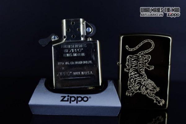 Zippo 29884 – Zippo Tattoo Tiger Design High Polish Brass 11