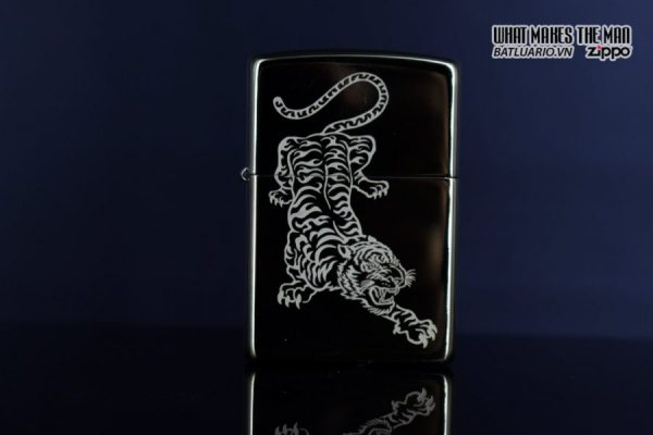 Zippo 29884 – Zippo Tattoo Tiger Design High Polish Brass 7