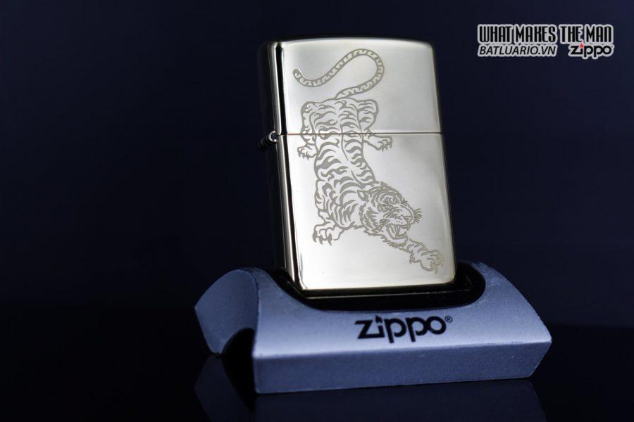 Zippo 29884 – Zippo Tattoo Tiger Design High Polish Brass 8