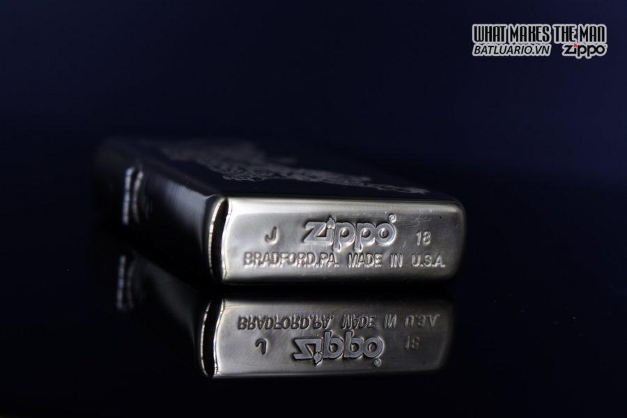 Zippo 29884 – Zippo Tattoo Tiger Design High Polish Brass 9