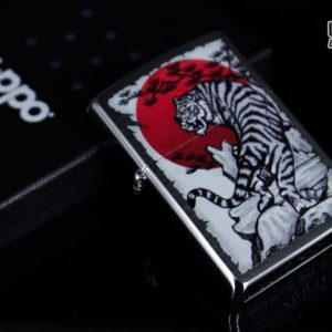 Zippo 29889 – Zippo Asian Tiger Design Brushed Chrome