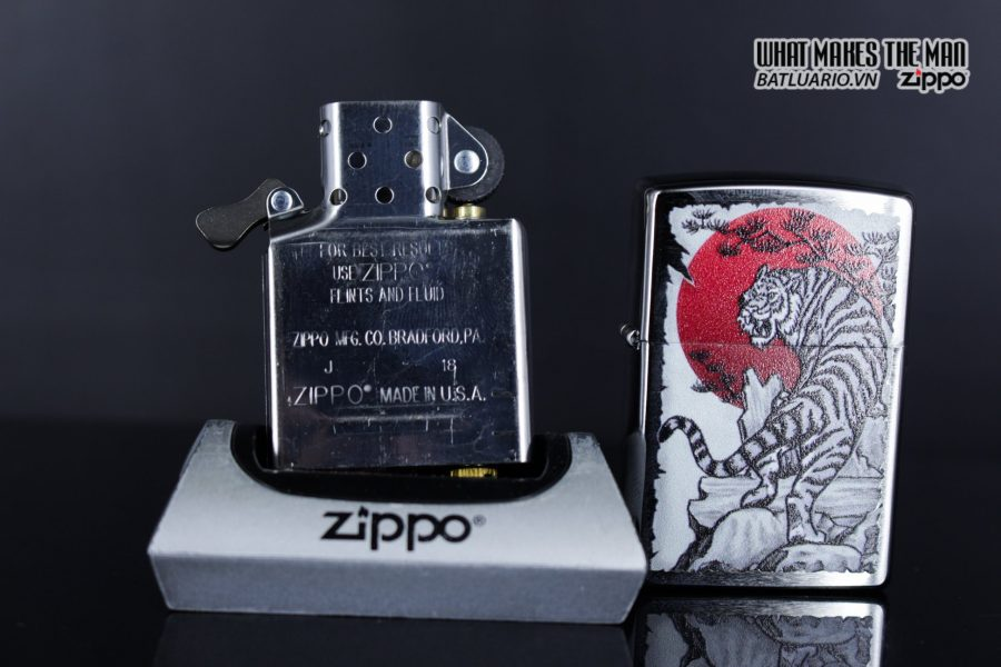 Zippo 29889 – Zippo Asian Tiger Design Brushed Chrome 10