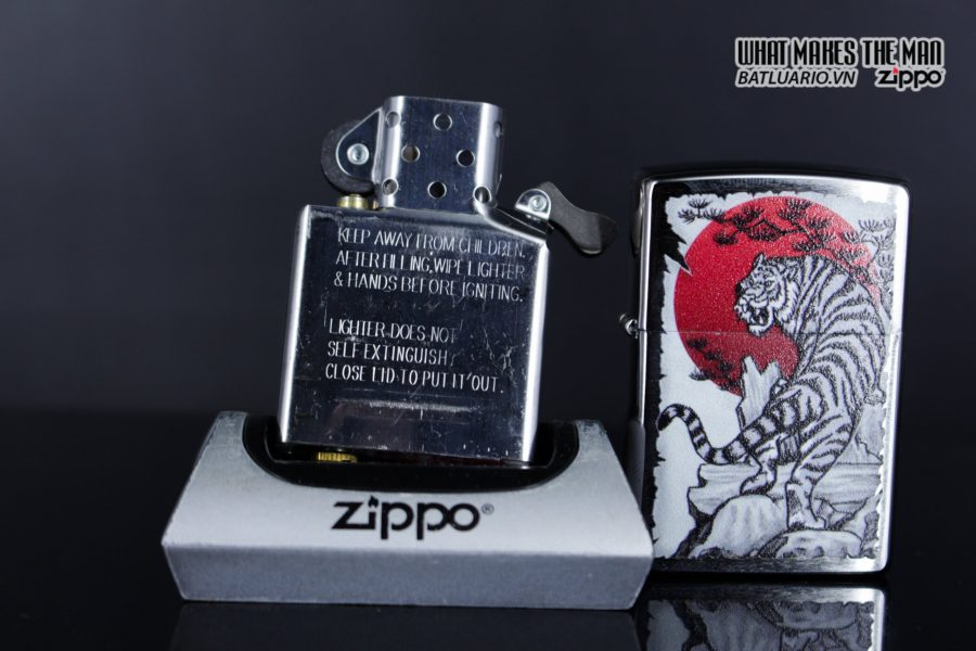 Zippo 29889 – Zippo Asian Tiger Design Brushed Chrome 11
