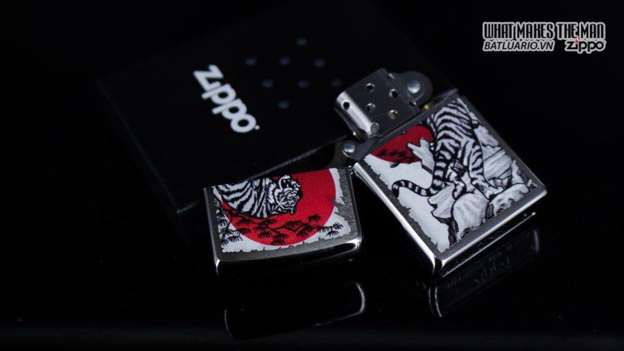 Zippo 29889 – Zippo Asian Tiger Design Brushed Chrome 2