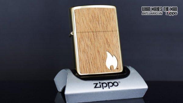 Zippo 29901 – Zippo Woodchuck Sweep Walnut Brush Brass Mahogany Emblem 11