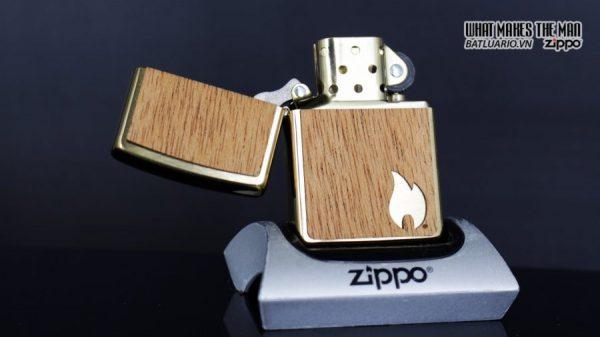 Zippo 29901 – Zippo Woodchuck Sweep Walnut Brush Brass Mahogany Emblem 12