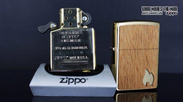 Zippo 29901 – Zippo Woodchuck Sweep Walnut Brush Brass Mahogany Emblem 14