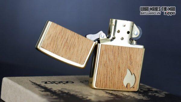 Zippo 29901 – Zippo Woodchuck Sweep Walnut Brush Brass Mahogany Emblem 9