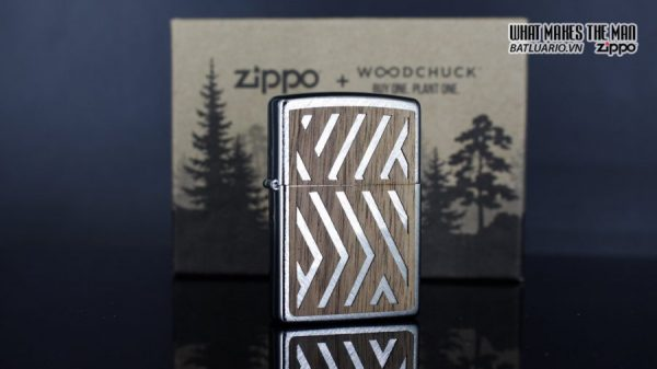 Zippo 29902 – Zippo Woodchuck Paths Heringbone Sweep Walnut Emblem 10
