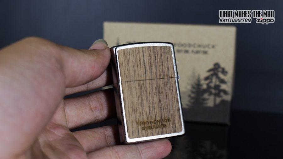 Zippo 29902 – Zippo Woodchuck Paths Heringbone Sweep Walnut Emblem 13