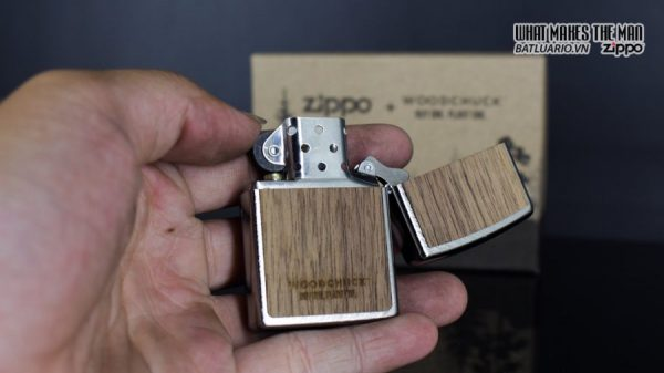Zippo 29902 – Zippo Woodchuck Paths Heringbone Sweep Walnut Emblem 15