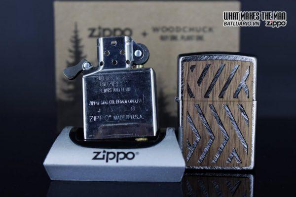 Zippo 29902 – Zippo Woodchuck Paths Heringbone Sweep Walnut Emblem 16
