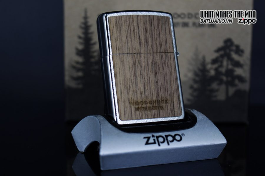Zippo 29902 – Zippo Woodchuck Paths Heringbone Sweep Walnut Emblem 19