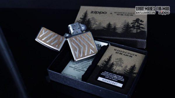 Zippo 29902 – Zippo Woodchuck Paths Heringbone Sweep Walnut Emblem 2