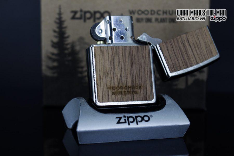 Zippo 29902 – Zippo Woodchuck Paths Heringbone Sweep Walnut Emblem 21