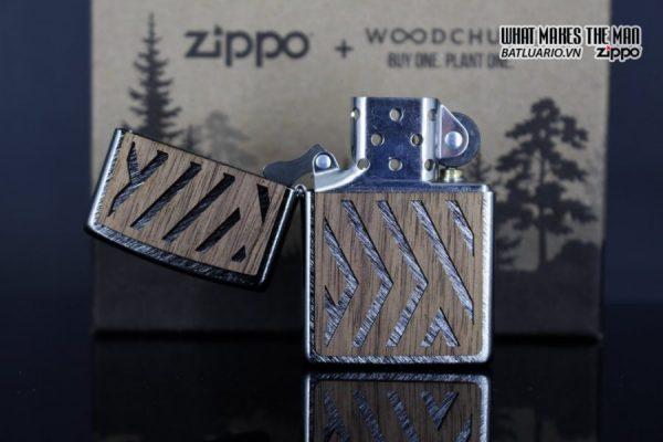 Zippo 29902 – Zippo Woodchuck Paths Heringbone Sweep Walnut Emblem 23
