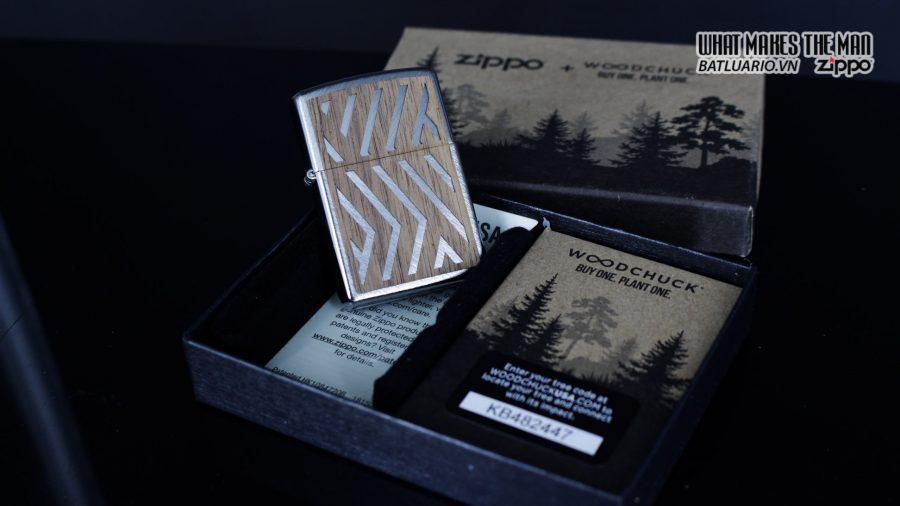 Zippo 29902 – Zippo Woodchuck Paths Heringbone Sweep Walnut Emblem 3