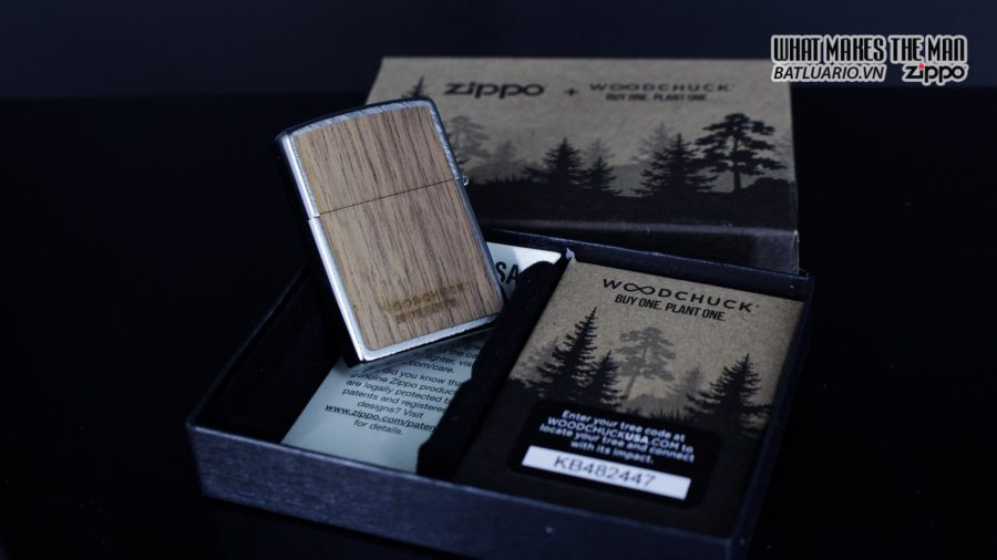 Zippo 29902 – Zippo Woodchuck Paths Heringbone Sweep Walnut Emblem 4