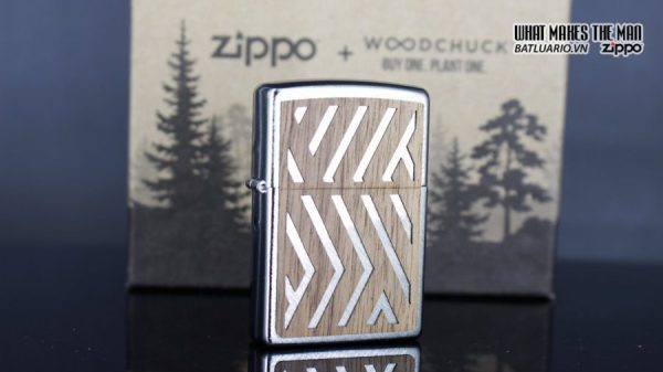 Zippo 29902 – Zippo Woodchuck Paths Heringbone Sweep Walnut Emblem 5